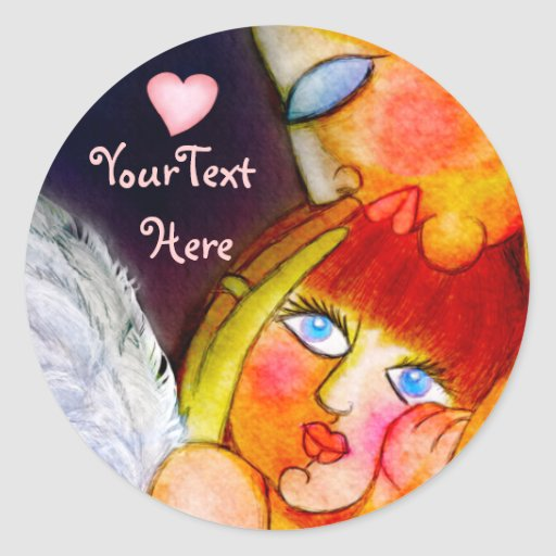 Mother's pure love - mom and child design stickers
