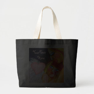 Mother's pure love - mum and child design jumbo tote bag