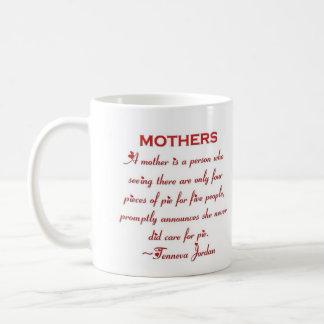 Mothers Quote - Caring Pie n Tea Mug