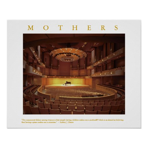MOTHERS Quote Piano Concert Stage Photo Art Print