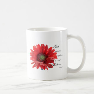 Mothers Special Red Gerber Daisy Flower Mug