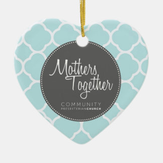 Mothers Together Grey Logo Heart Ornament