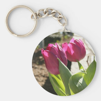 Mother's Tulips Key Ring