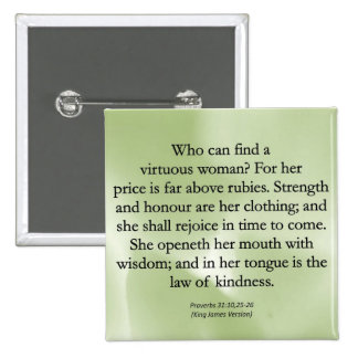 Mothers' Worth Cannot be Measured  (Proverbs 31) 15 Cm Square Badge