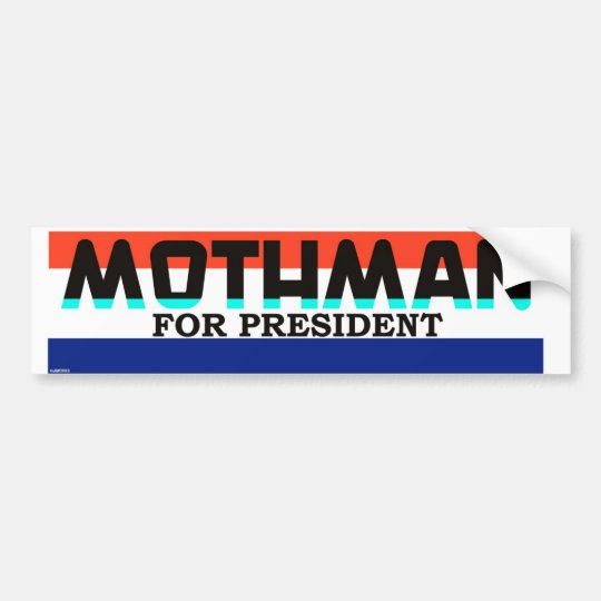 Mothman For President Bumper Sticker