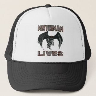 MOTHMAN LIVES TRUCKER HAT