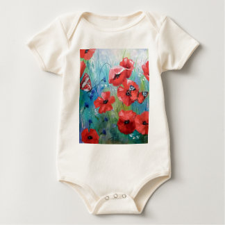 moths and butterflies baby bodysuit