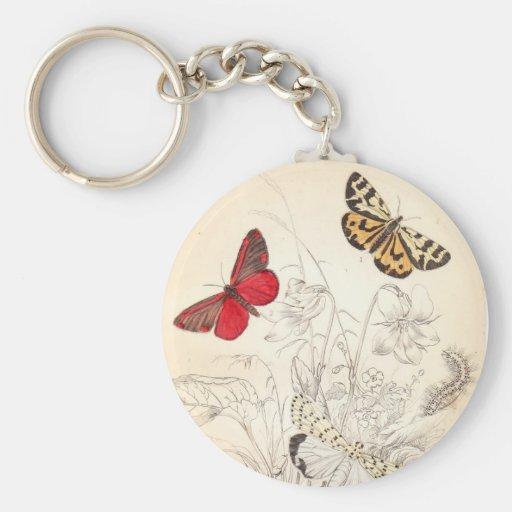 Moths and Butterflies Key Chain