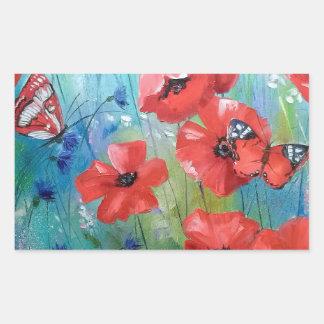 moths and butterflies rectangular sticker