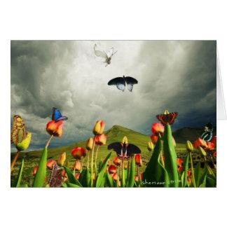 Moths & Tulips Card