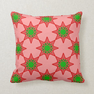motif en étoile patterns throw cushions