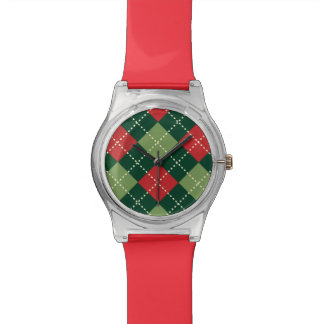 motif losange patterns watch