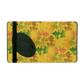 motif pattern feuilles d'automne iPad folio case