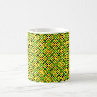 motif pattern forme géométrique basic white mug