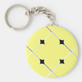 motif pattern   géométrique basic round button key ring