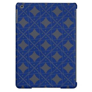 motif pattern géométrique bleu et gris case for iPad air