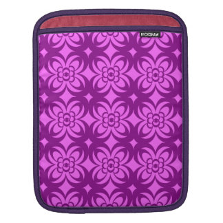 motif pattern  géométrique  fuschia sleeves for iPads