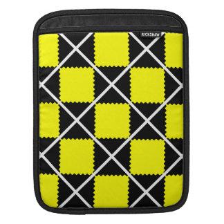 motif pattern jaune noir sleeve for iPads