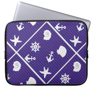 motif pattern marin laptop sleeves