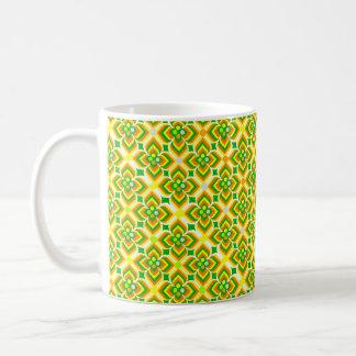 motif patterns forme géométrique basic white mug