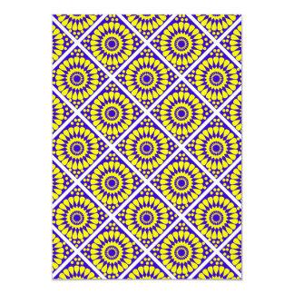motif patterns  géométriques 13 cm x 18 cm invitation card