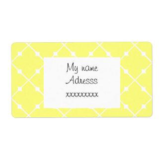 motif patterns géométriques  jaune shipping label
