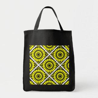 motif patterns géométriques grocery tote bag