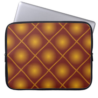motif patterns jaune marron computer sleeve