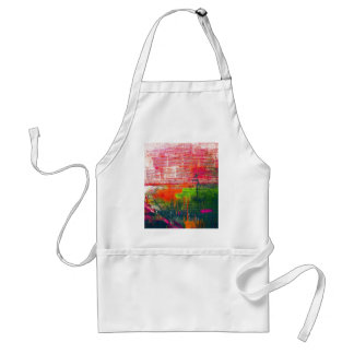 Motion Art Lines, Blue Shades Colors, Style Fashio Standard Apron