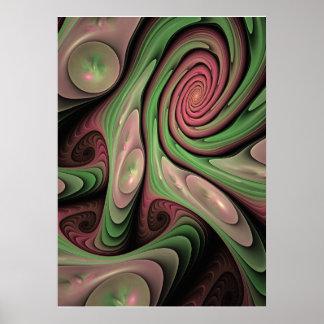 Motion artistic fractal wallart posters