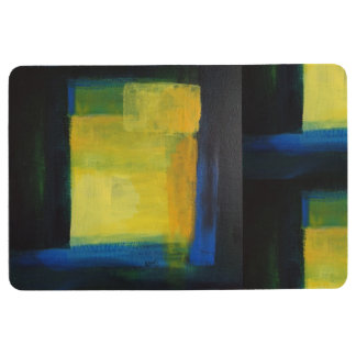 """Motion"" Blue and Yellow Floor Mat"