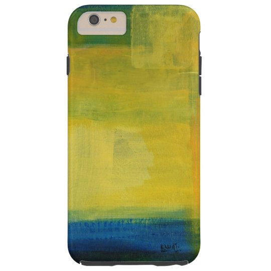 """""""Motion"""" Blue and Yellow iPhone 6/6s Plus, Tough"""