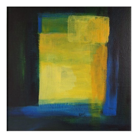 """Motion"" Blue and Yellow Wall Art"