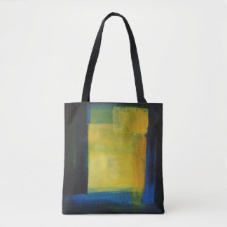 """Motion"" Blue  Yellow  Tote Bag"