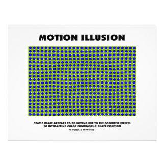 Motion Illusion (Optical Illusion) 21.5 Cm X 28 Cm Flyer