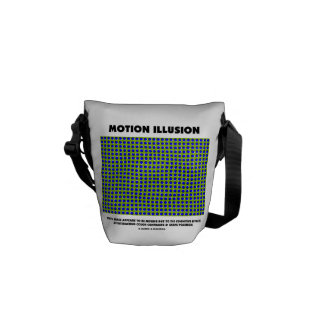 Motion Illusion Optical Illusion Courier Bag