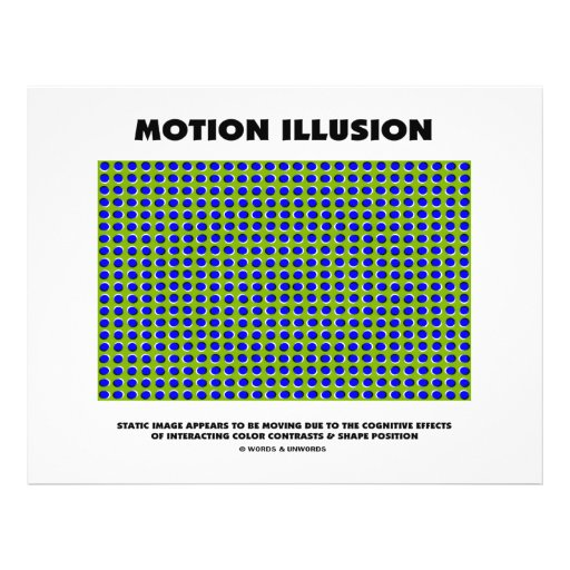Motion Illusion (Optical Illusion) Full Color Flyer