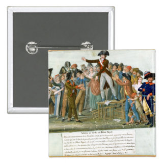 Motion in the Garden of the Palais-Royal 15 Cm Square Badge