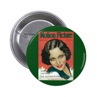 Motion Picture February 1931 Gloria Swanson cover 6 Cm Round Badge