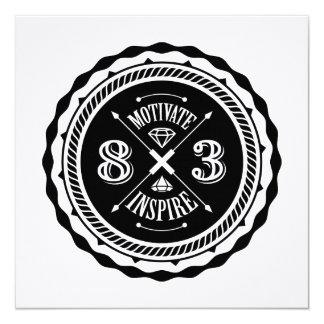 Motivate & Inspire - Square Invite Card (White)