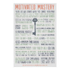 Motivated Mastery Manifesto (24x36 inches) Poster