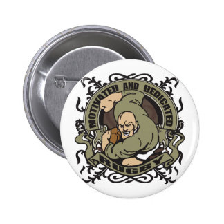 Motivated Rugby Button