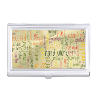 Motivating Confidence Booster Gives Positivity Business Card Holder