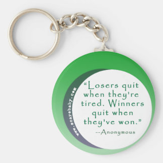 Motivating Quote for Winners Basic Round Button Key Ring
