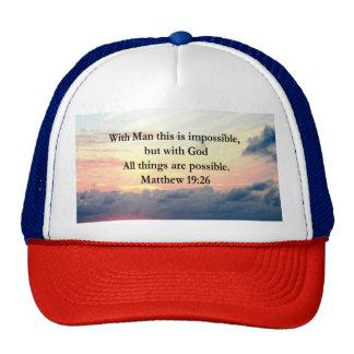 MOTIVATING SUNRISE MATTHEW 19:26 PHOTO DESIGN CAP