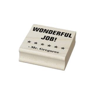 "Motivating ""WONDERFUL JOB!"" Teacher Rubber Stamp"