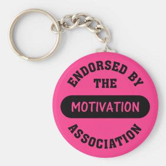 Motivation Association Endorsement Basic Round Button Key Ring