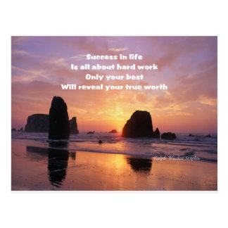 Motivation for success postcard