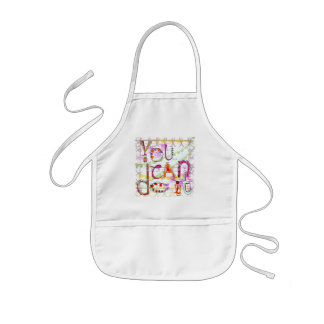 Motivation Quote Apron in quirky contemporary styl