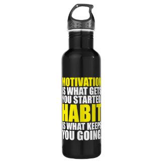 Motivation vs  Habit - Workout Motivational 710 Ml Water Bottle